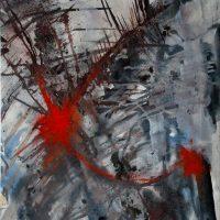 38x46 - Leinwand - Rote Explosion 1994