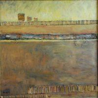 70x70 - Collage Faserplatte - Stiller Morgen  - ღ