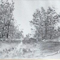 36x26 - Kohle Papier