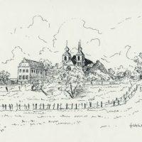 24x18 - Tusche Papier - Kloster Kamp